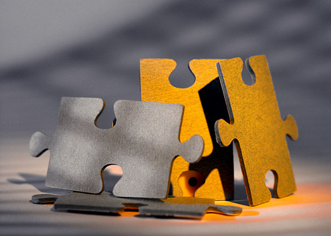 Stockbild Puzzleteile